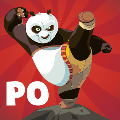 How To Draw Po From Kungfu Panda 1 And 2 With Easy Steps Drawing Tutorial