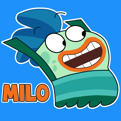 How to draw Milo from Disney's Fish Hooks with easy step by step drawing tutorial
