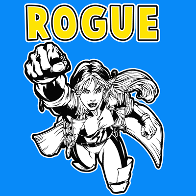 How to draw Rogue from Marvel's X-Men Superhero Team with easy step by step drawing tutorial