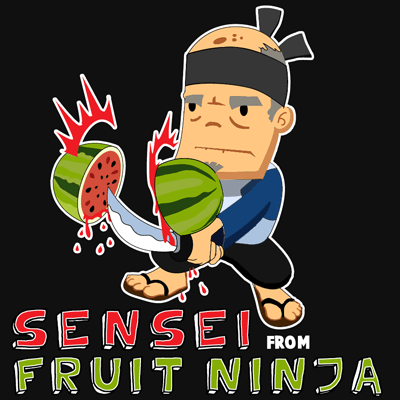 How to draw the Sensei from Fruit Ninja Game with easy step by step drawing tutorial