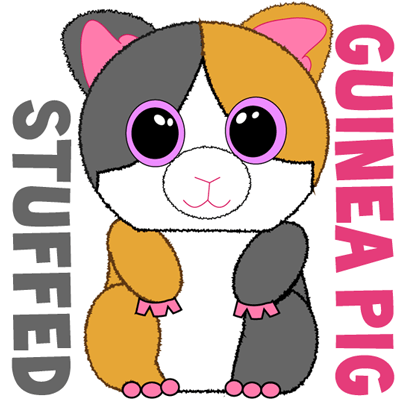 How to draw stuffed guinea pigs with easy step by step drawing tutorial