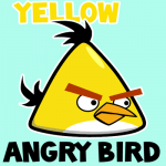How to draw Yellow Angry Bird with easy step by step drawing tutorial