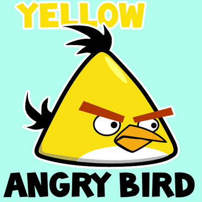 How to draw Yellow Angry Bird