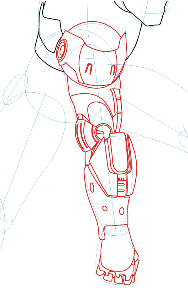 Step 3 : Drawing Iron Man in Easy Steps Lesson