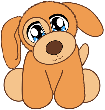 How to draw Baby Anime Puppy with easy step by step drawing tutorial