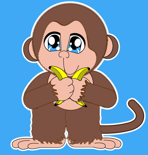 How to draw Baby Anime Monkey with easy step by step drawing tutorial