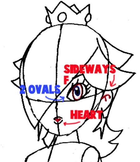 How to Draw Rosalinas Face in Easy Steps