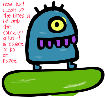 How to draw the Alien from Doodle Jump Game with easy step by step drawing tutorial