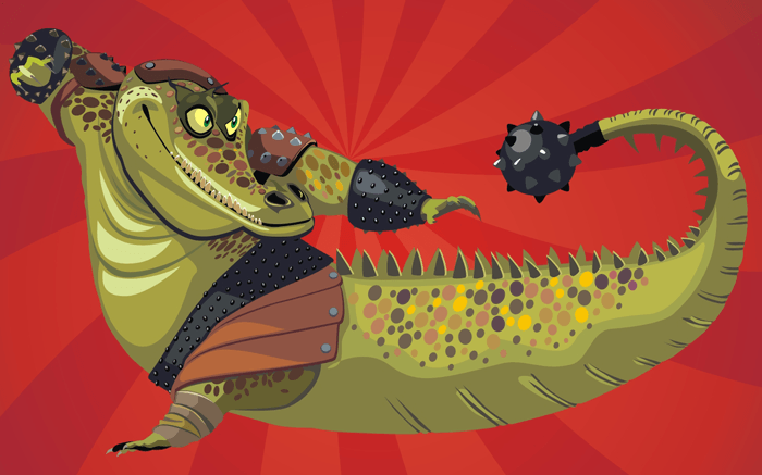 How to Draw Master Croc from Kung Fu Panda