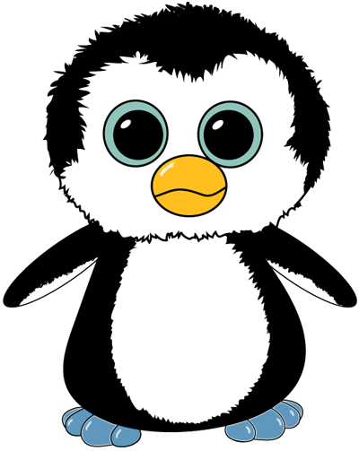 How to Draw Stuffed TY Beanie Boos Cartoon Penguins
