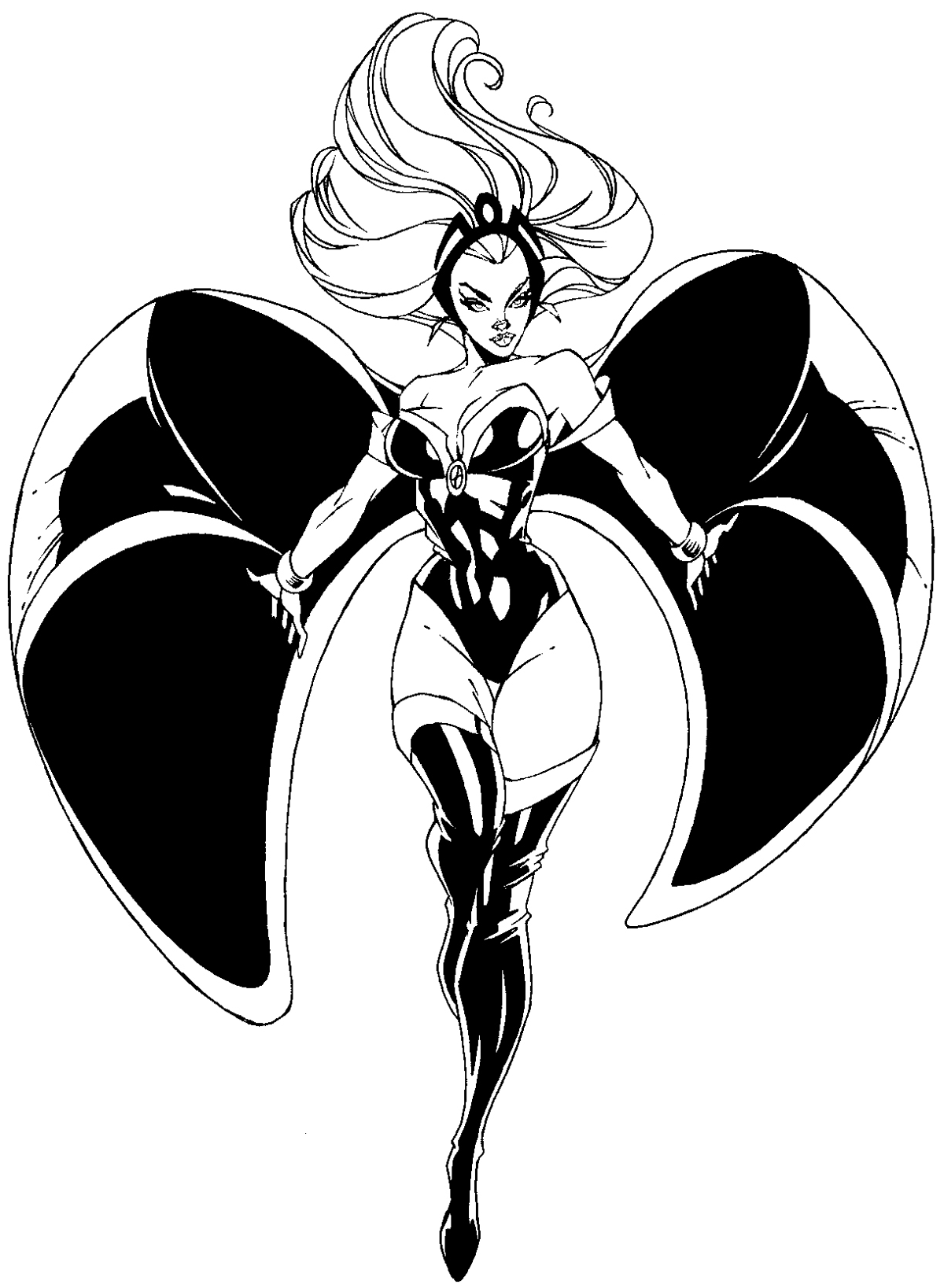 How to draw Storm from Marvel's X-Men Superhero Team with easy step by step drawing tutorial