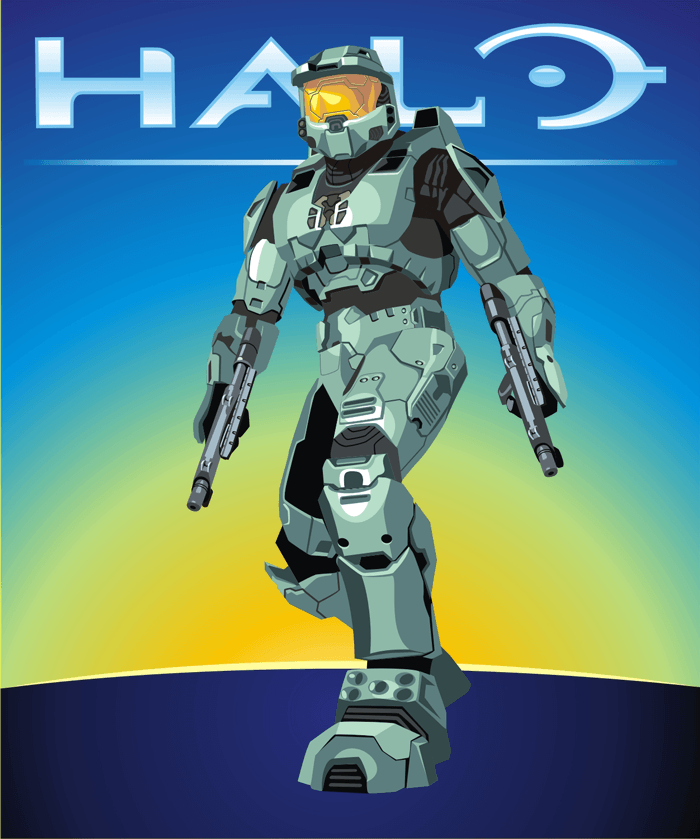 How to draw Master Chief from Halo with easy step by step drawing tutorial