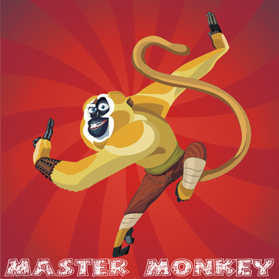 How to draw Master Monkey from Kung Fu Panda with easy step by step drawing tutorial