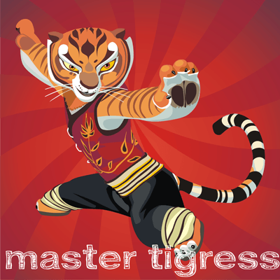 How to draw Master Tigress from Kung Fu Panda with easy step by step drawing tutorial