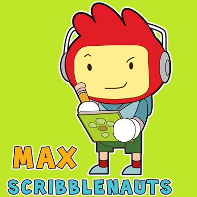 How to draw Max from Scribblenauts with easy step by step drawing tutorial