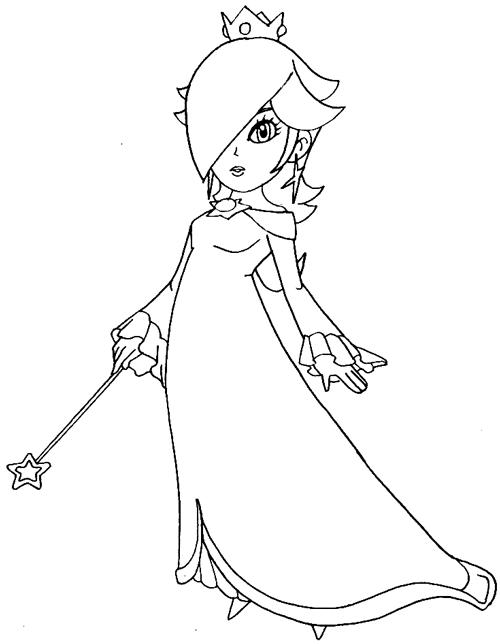 Step 8 : Drawing Rosalina from Wii Mario Kart Lesson