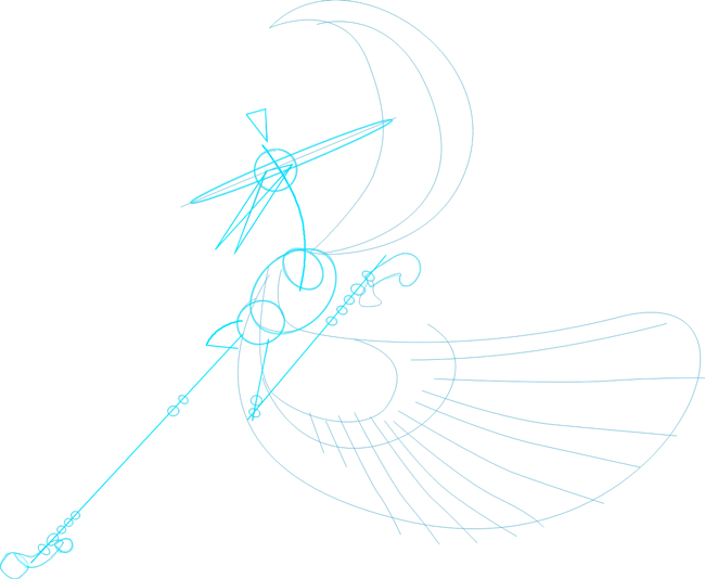 Step 1d : Drawing Master Crane from Kung Fu Panda in Easy Steps Lesson