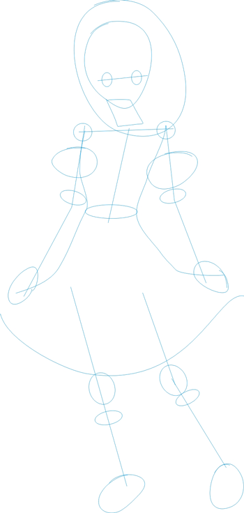 Step 1 : Drawing Nagisa Aoi in Easy Steps Lesson