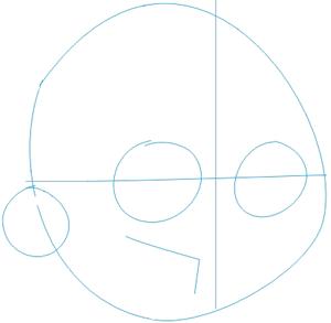 Step 1 : Drawing Danny Phantom. in Easy Steps Lesson