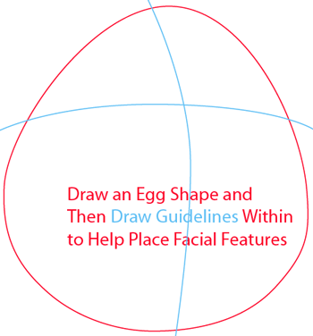 Step 1 : Drawing White Angry Bird in Easy Steps Lesson