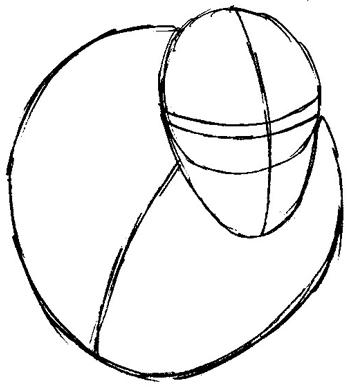 Step 2 : Drawing Beast from Marvel's X-Men Superhero Team Easy Steps Lesson