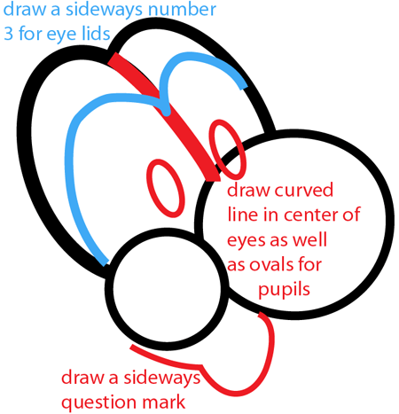 Step 3 : Drawing Nintendo's Baby Yoshi Easy Steps Lesson