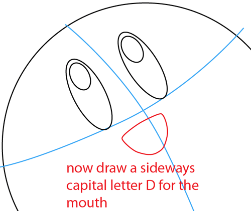Step 3 : Drawing Nintendo's Kirby Easy Steps Lesson