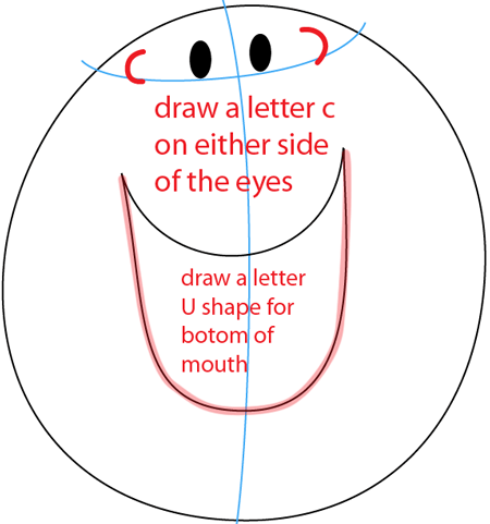 Step 3 : Drawing Mr. Tickle from Mr. Men Children's Book Series Easy Steps Lesson