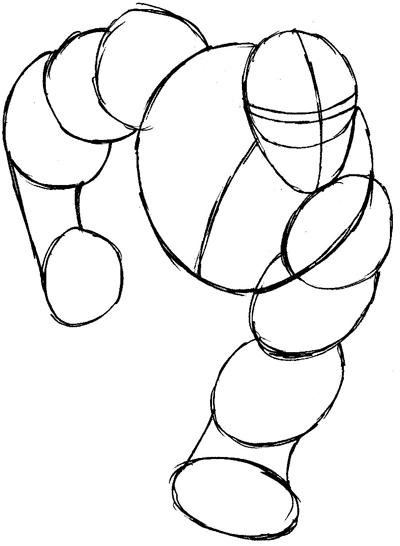 Step 3 : Drawing Beast from Marvel's X-Men Superhero Team Easy Steps Lesson