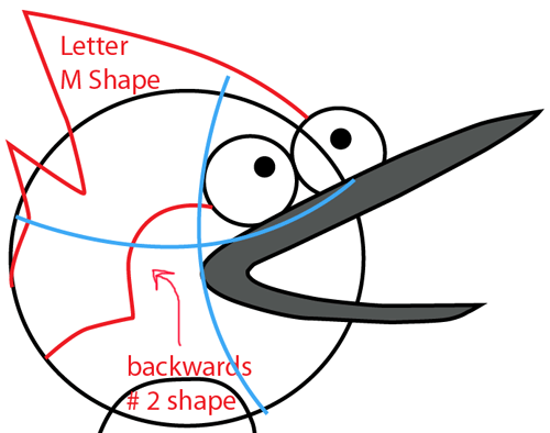 Step 4 : Drawing Mordecai from Regular Show Easy Steps Lesson