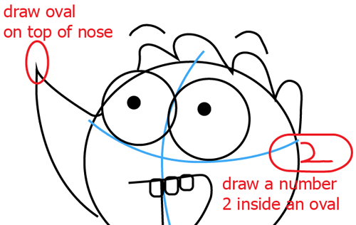 Step 4 : Drawing Rigby from Regular Show Easy Steps Lesson
