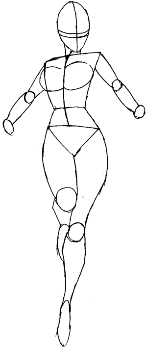 The gallery for how to draw superheroes body for Easy body drawings