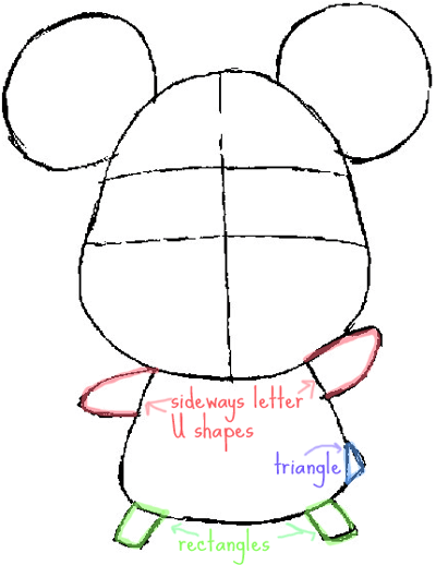 Step 4 : Drawing Hamtaro the Cartoon Pet Hamster in Easy Steps Lesson