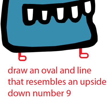 Step 5 : Drawing Alien from Doodle Jump Game Easy Steps Lesson