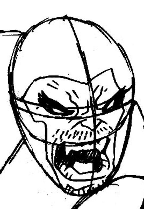 Step 5 : Drawing Beast from Marvel's X-Men Superhero Team Easy Steps Lesson