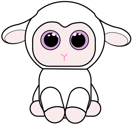 How to Draw Baby Lamb with Easy Step by Step Drawing ...