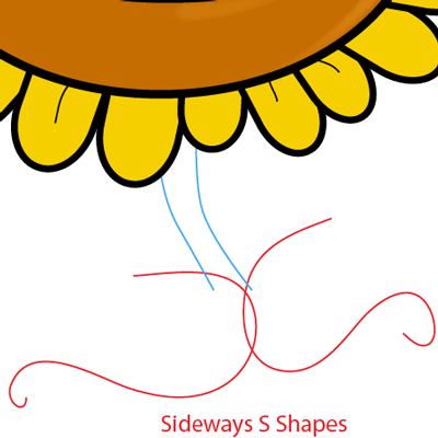 Step 6 : Drawing Sunflower from Plants vs. Zombies Game in Easy Steps Lesson