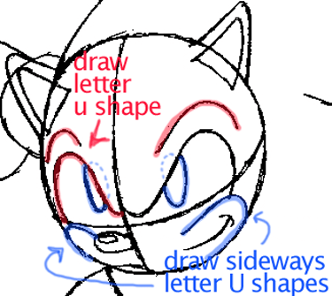 Step 6 : Drawing Sonic the Hedgehog in Easy Steps Lesson