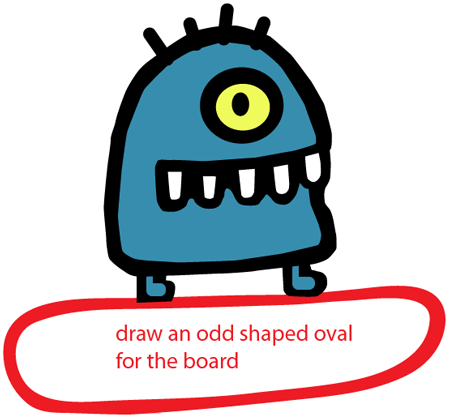 Step 6 : Drawing Alien from Doodle Jump Game Easy Steps Lesson