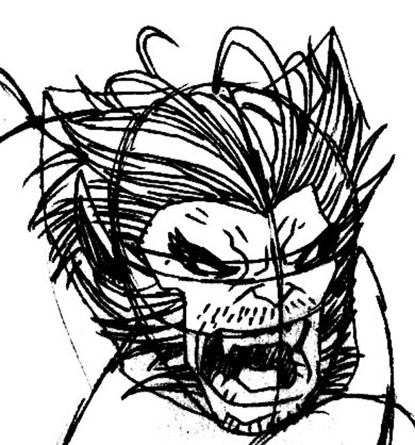 Step 6 : Drawing Beast from Marvel's X-Men Superhero Team Easy Steps Lesson