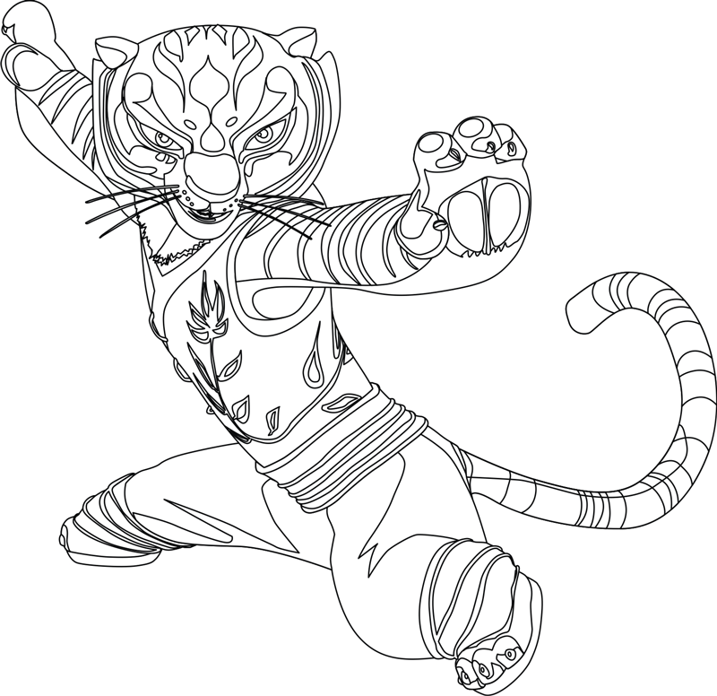 How to Draw Master Tigress from