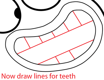 Step 7 : Drawing Milo from Disney's Fish Hooks Easy Steps Lesson