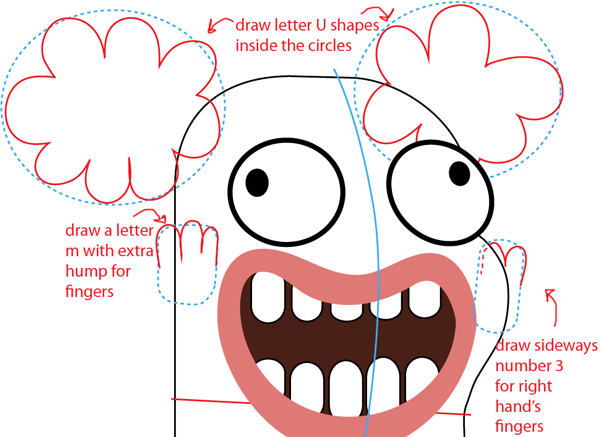 Step 7 : Drawing Bea from Disney's Fish Hooks Easy Steps Lesson