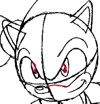 Step 7 : Drawing Sonic the Hedgehog in Easy Steps Lesson