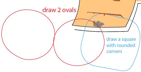 Step 7 : Drawing Sensei from Fruit Ninja Game Easy Steps Lesson