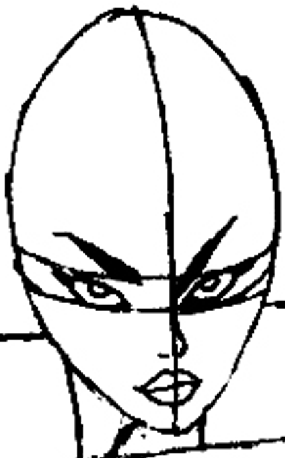 Step 7A : Drawing Storm from Marvel's X-Men Superhero Team Easy Steps Lesson