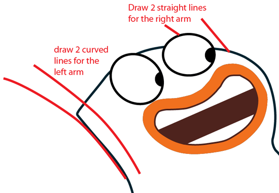 Step 8 : Drawing Milo from Disney's Fish Hooks Easy Steps Lesson