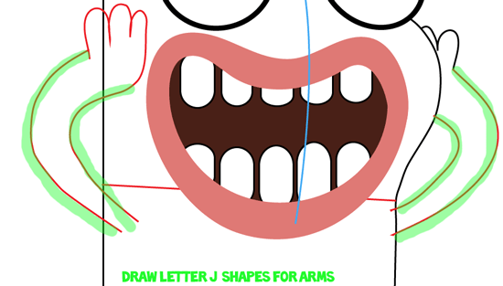 Step 8 : Drawing Bea from Disney's Fish Hooks Easy Steps Lesson