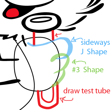 Step 8 : Drawing Papa Smurf from The Smurfs Easy Steps Lesson