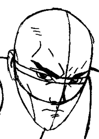 Step 8 : Drawing Professor X from Marvel's X-Men Superhero Team Easy Steps Lesson